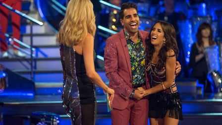 Janette Manrara with celebrity partner Dr Ranj Singh on Strictly Come Dancing Photo: BBC/ Guy Levy