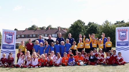 The Ipswich Town Community Trust was officially launched at Britannia Primary School. Picture: ROSS