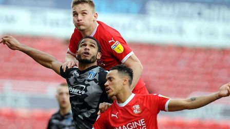 Luke Woolfenden was a key player during his loan spell at Swindon Town. Picture: DAVE EVANS