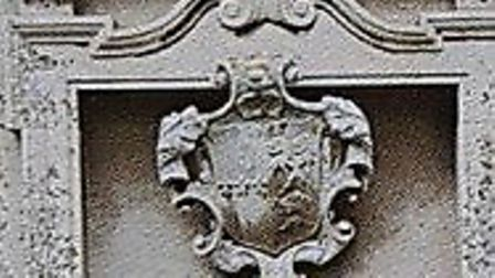 The crest as it appeared before being taken from Badley church Picture: SUFFOLK CONSTABULARY