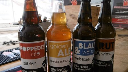 Traditional German ales from Krafty Braumeister of Leiston, on sale at Hopsters in Ipswich. Picture: