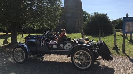 Have you seen the classic car rally visiting churches across Suffolk today? Picture: SUFFOLK HISTORI