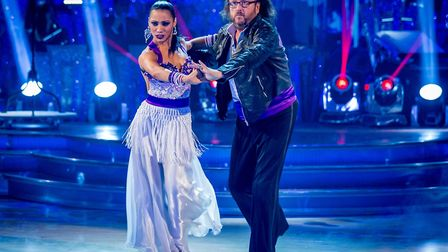 Karen Hauer performing with celebrity partner Dave Myers on BBC1's Strictly Come Dancing. Photo: Gu