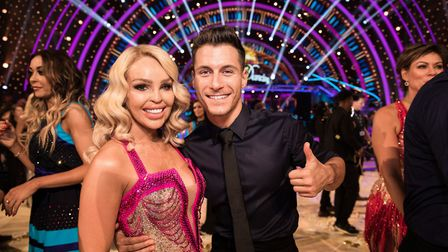 Gorka Marquez with celebrity partner Katie Piper on Strictly Come Dancing, Photo: Guy Levy/BBC