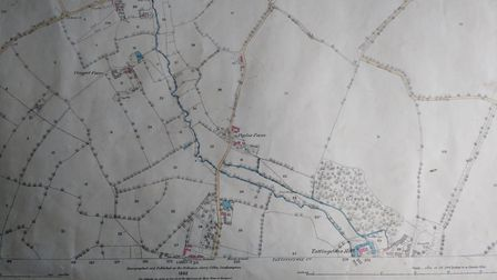 One of the maps currently being consulted by residents dates back to 1882 Picture: AMANDA MOORE