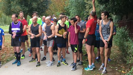 Runners, joggers and walkers congregate for the 174th staging of the Raphael parkrun, where Carl Mar