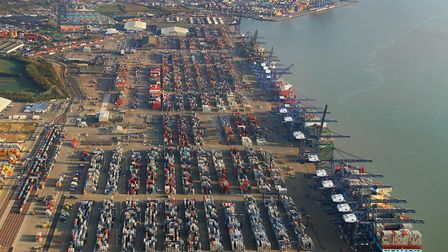 Felixstowe is unlikely to be as badly affected by a hard Brexit as some other ports. Picture: Mike P