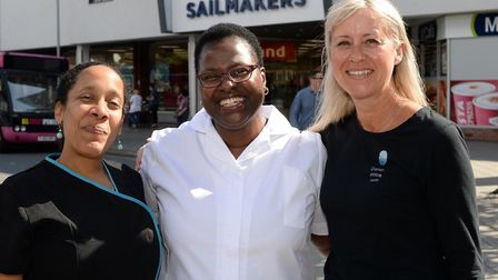 Health experts (L-R) Imani Sorhaindo, Shirley Powell and Lynn Palmer will be setting up their Wellne