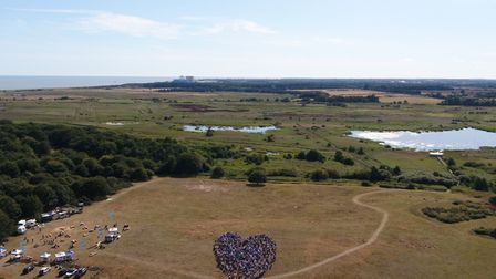 Thousands of protesters got together to show their love for Minsmere. Picture: SAMBUTCHER.NET