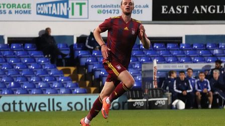 Will Keane in action for Town U23s against Nottingham Forest at Portman Road Picture: ROSS HALLS