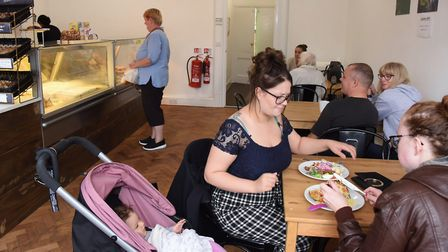The busy Lake Avenue Bake & Bites café, coffee shop and bakery in Bury St Edmunds. Picture: DENISE B