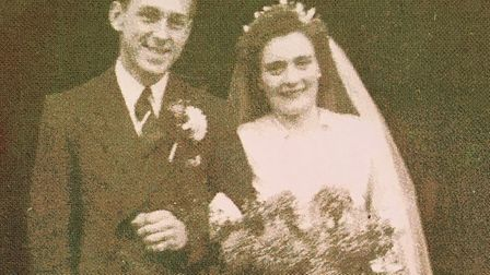 Percy and Phyllis married at Boxford church on a snowy day less than a fortnight before Christmas 19