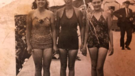 At Clacton-on-Sea, perhaps. Phyllis is on the right Picture: FAMILY COLLECTION