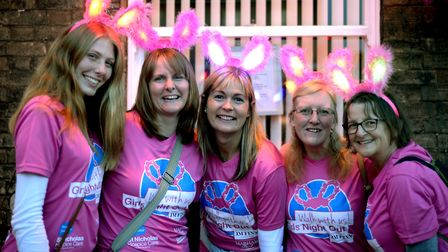 SET Ixworth School ladies taking part in Girls Night Out in Bury St Edmunds PICTURE: Andy Abbott