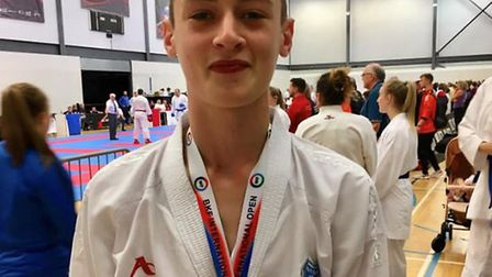 Isaac Moore, 15, from Stowupland, has been picked by England Karate Federation selectors to travel t