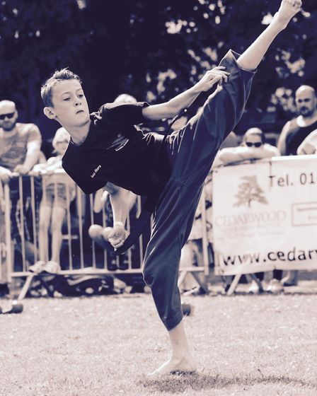 Isaac Moore will represent England at the Junior Karate World Championships in Chile next month. Pic