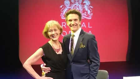 Christine Webber and Gary Avis at the Royal Opera House. Now the pair are going to hold their 'in co