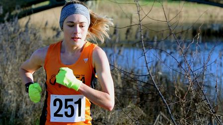 Laura Thomas, who won the ladies' title at the Felixstowe Coastal 10. Picture: ANDY ABBOTT