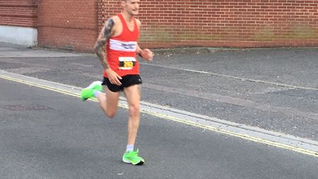 Danny Rock, who won the Felixstowe Coastal 10 in a big personal best time.