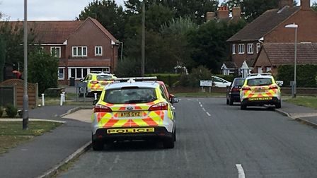 Police swoop on Trinity Walk in Stowupland. Picture: ARCHANT