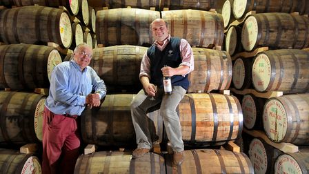 English Whisky Co chairman, James Nelstrop, left, and managing director, Andrew Nelstrop. The compan