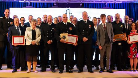 Firefighters, staff, volunteers and a quick-thinking teenager have been awarded at the Suffolk Fire