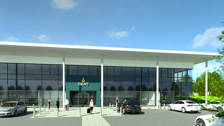 Building work is to start on multi-million pound Treatt HQ building in Bury St Edmunds PICTURE: TRE