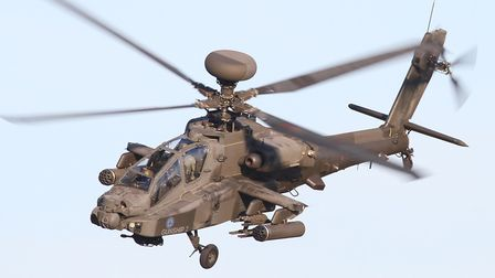 An Apache attack helicopter Picture: GARY STEDMAN