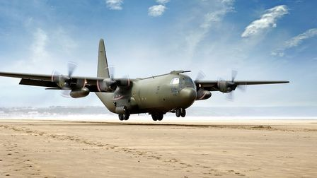 A C-130 Mk3 Hercules transport aircraft Picture: BECKY PAGET / MOD