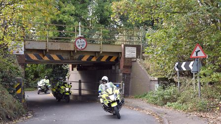 The low bridge at Needham Market has been 53 times in the last five years. Picture: SARAH LUCY BROWN