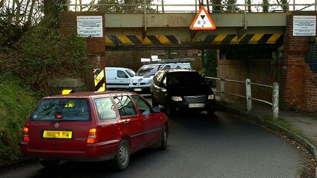 Residents have reported problems with traffic at Coddenham Road Bridge in Needham Market. Picture: