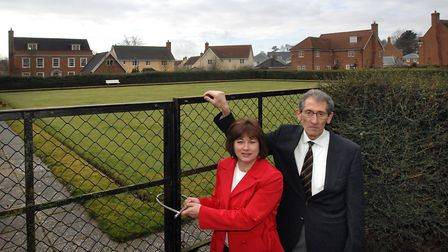 St Audrys Bowls Club members Teresa Andrews and Mick Hilton, pictured in 2009 when they had been l