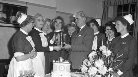 Archive photo of a presentation at St Audrys Hospita in 1963 Picture: ARCHIVE