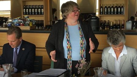Suffolk Coastal MP Therese Coffey hosted the meeting at Snape Maltings Picture: AOEP