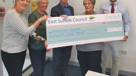 Members of the PVCLT with East Suffolk's strategic director Andrew Jarvis and councillor James Malli
