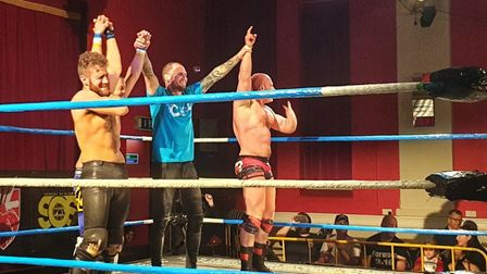 Ipswich Town�s James Norwood performed two Dwayne �The Rock� Johnson moves in the final bout at a ch