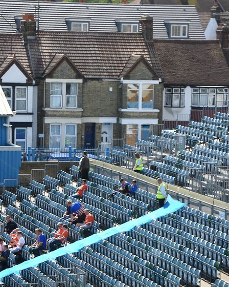 Ipswich Town fans will be in the uncovered Brian Moore End at Gillingham this weekend. Picture: PA