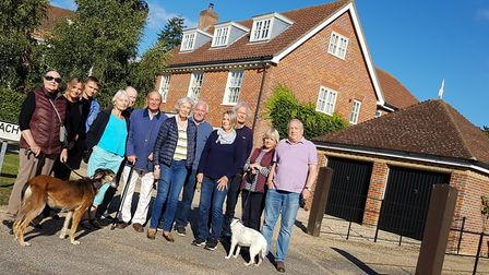 Opponents to Hopkins & Moore's plans for housing on a former bowls green in Melton Picture: RACHEL E