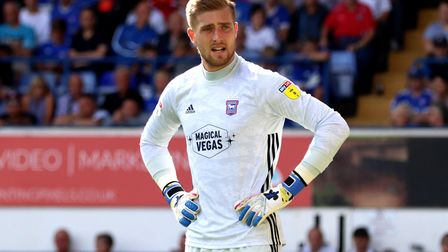 Ipswich Town keeper Tomas Holy has kept five successive league clean sheets. Photo: Ross Halls