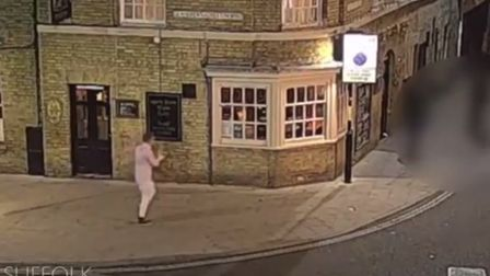 Corrie McKeague on CCTV outside The Grapes pub in Bury St Edmunds Picture: SUFFOLK CONSTABULARY