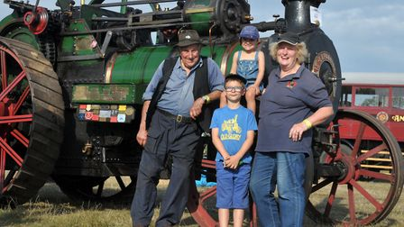 Natel and Judy Taylor with their grandchildren Jacob and Eviee Pearson Picture: SARAH LUCY BROWN