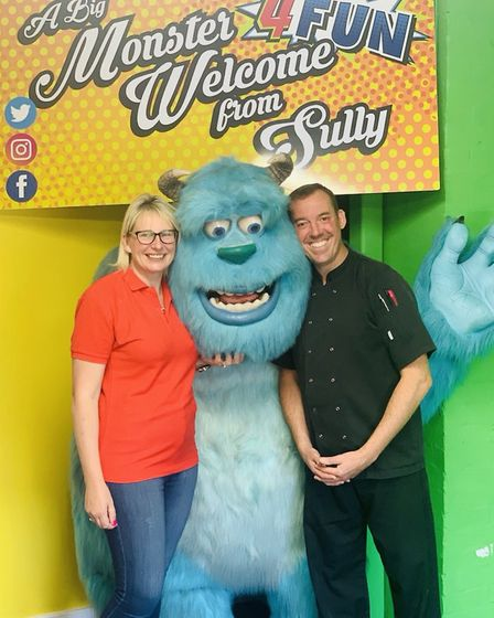 Centre manager and head chef Jason Shaw, pictured with co-owner Frances Seymour, has joined 4 Fun p