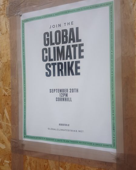 Posters for the strike have been going up around Ipswich Picture: ARCHANT