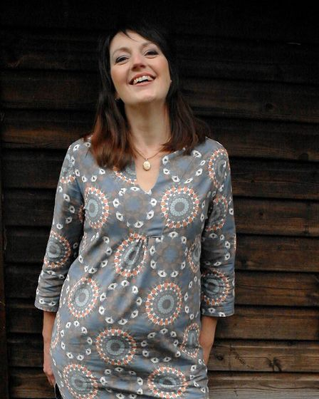 Jo dressed in an African tunic. Picture: KATYA CROSBIE