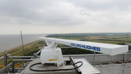 A radar which monitors the coast from the top of Sizewell A Picture: EDF