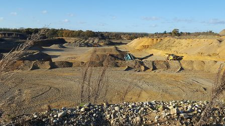The existing quarry at Wangford. Picture: JAMES WINTERBOTHAM