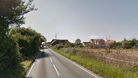 The Eriswell Road has been closed after a two car crash. Picture: GOOGLE MAPS