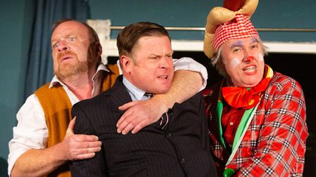 Dick Mainwaring, Charles Davies and Julian Harries in Common Ground's latest farce A Sidecar Named D