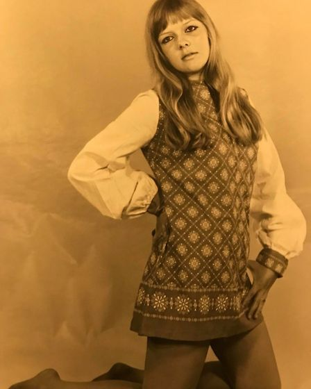 Sue Day wearing the latest fashions in Ipswich in the 1960s. Picture: SUE DAY