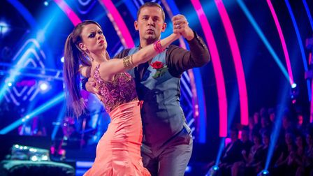 Scott Mills and Joanne Clifton performing on Strictly Come Dancing Photo: BBC/Kieron McCarron